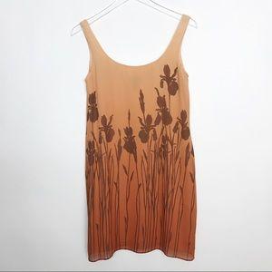 76a5e1c60 Anne Klein II 100% silk tank dress ombré coral 6